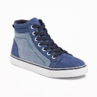 Boy's Denim Hi-Tops
