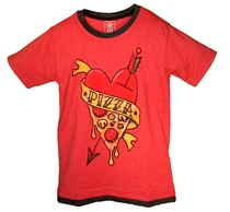 Boys' Pizza Tee by Wes and Willy