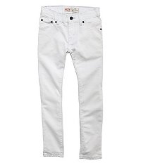 Boys White Denim Pants