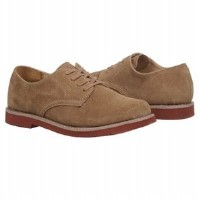 Boy's suede dress shoes