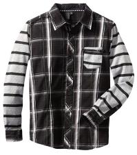Boys Plaid Button-up Shirt