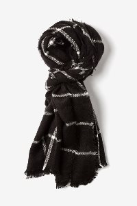 Black and White Scarf for Boys