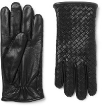 Black Leather Gloves for Boys