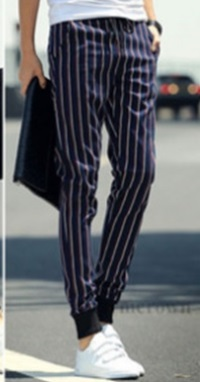 Black and White Striped Pants for Boys