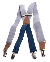 Chambray Suspenders for Boys