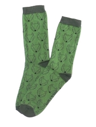 Green Fox Crew Socks for Boys