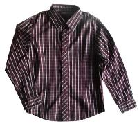 Burgundy Plaid Dress Shirt for Boys