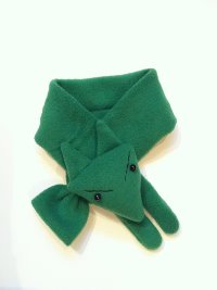 Green Fox Scarf for Boys