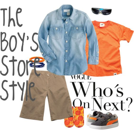 Summer Orange Boys Outfit Compilation