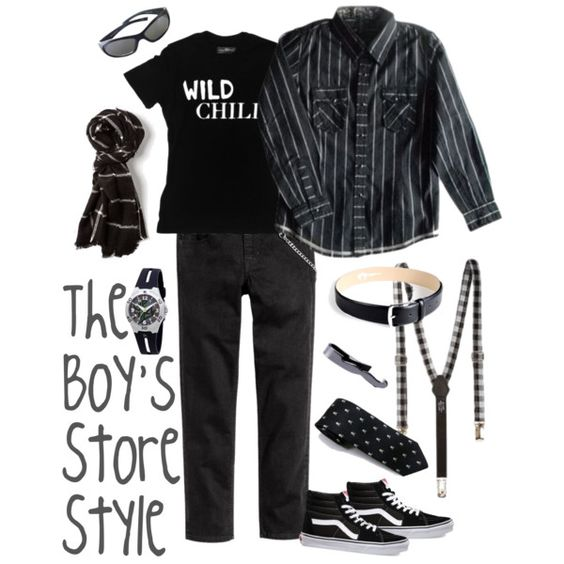 Black and White Boy's Outfit Compilation