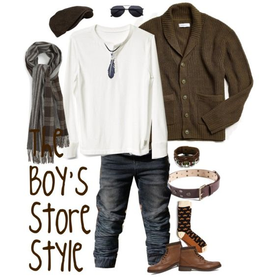 Boys Outfit Compilation - Brown scarf
